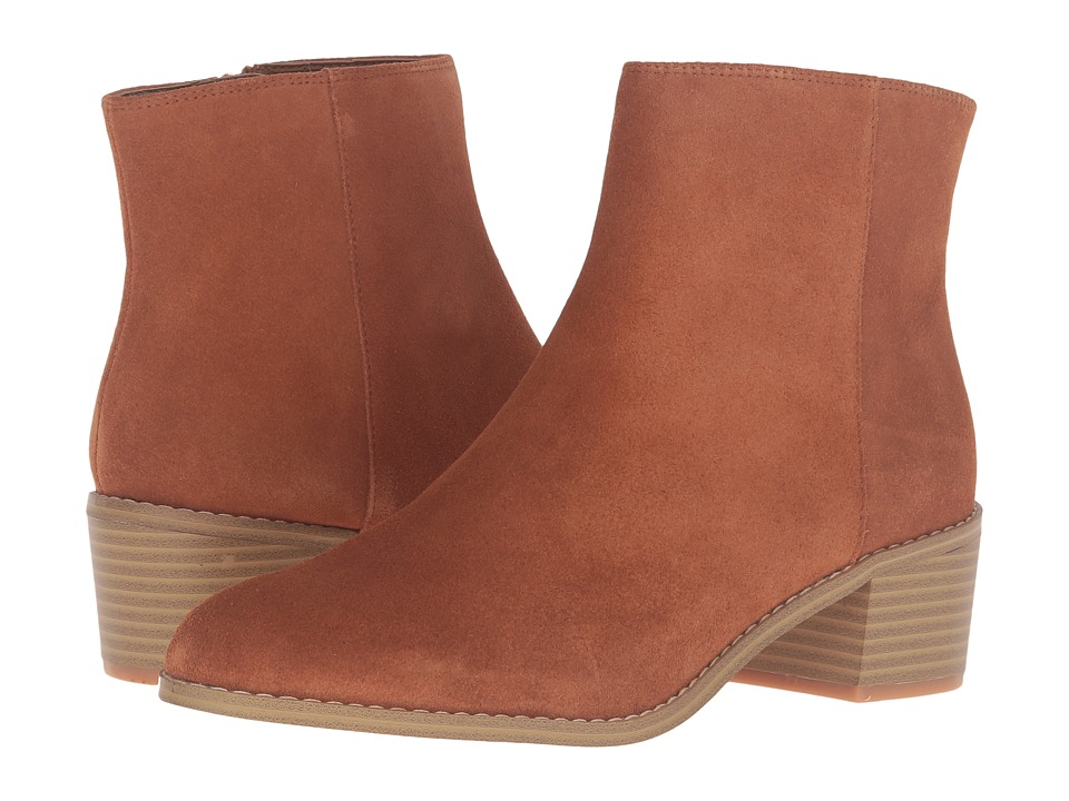 Clarks - Breccan Myth (Tan Suede) Women's Pull-on Boots
