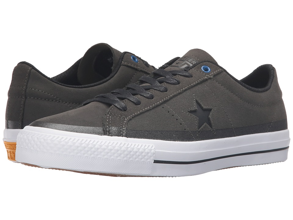 Converse Skate - One Star Pro Suede 90's Color Ox (Cast Iron/Black/White) Lace up casual Shoes