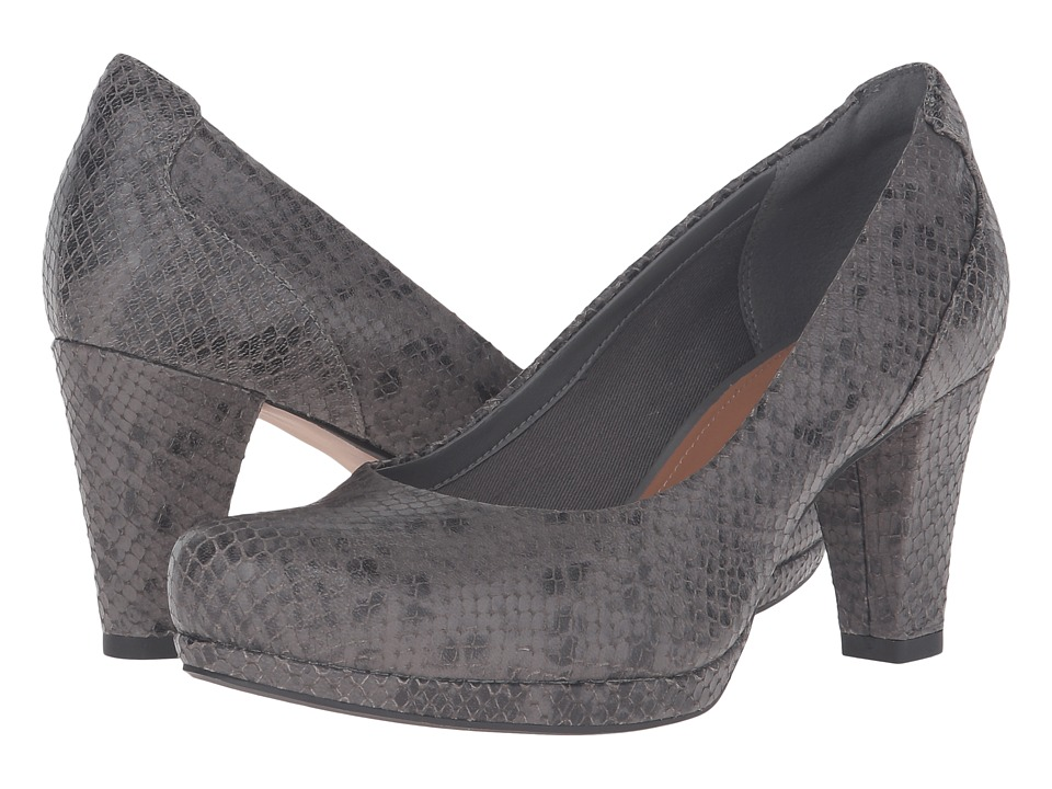 Clarks - Chorus Chic (Taupe Snake Leather) Women's Shoes
