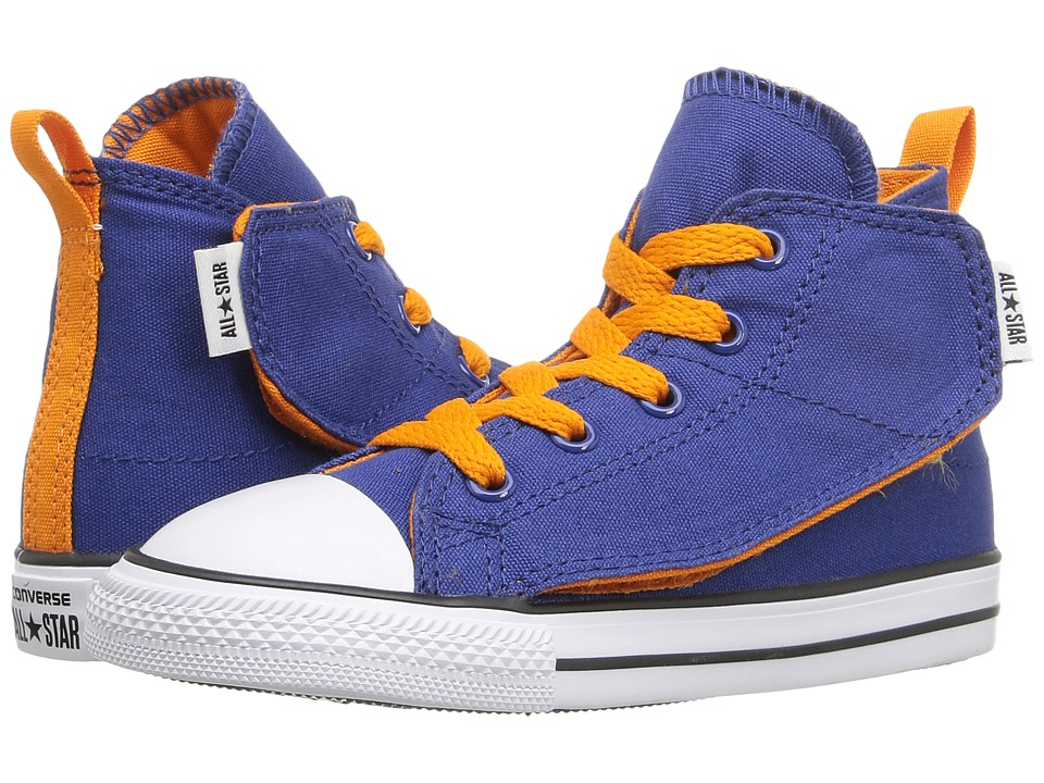 Converse Kids Chuck Taylor All Star Simple Step Hi (Infant/Toddler) (Roadtrip Blue/Vivid Orange/White) Boys Shoes