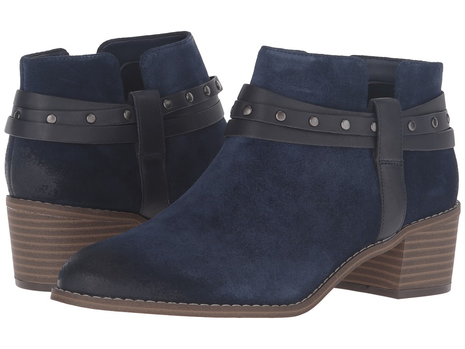 Clarks - Breccan Shine (Navy Suede) Women's Pull-on Boots