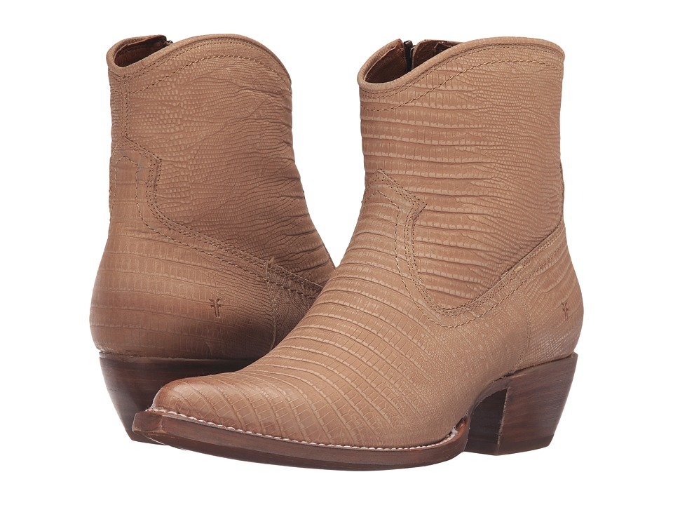 Frye - Sacha Short (Natural Lizard Embossed) Cowboy Boots