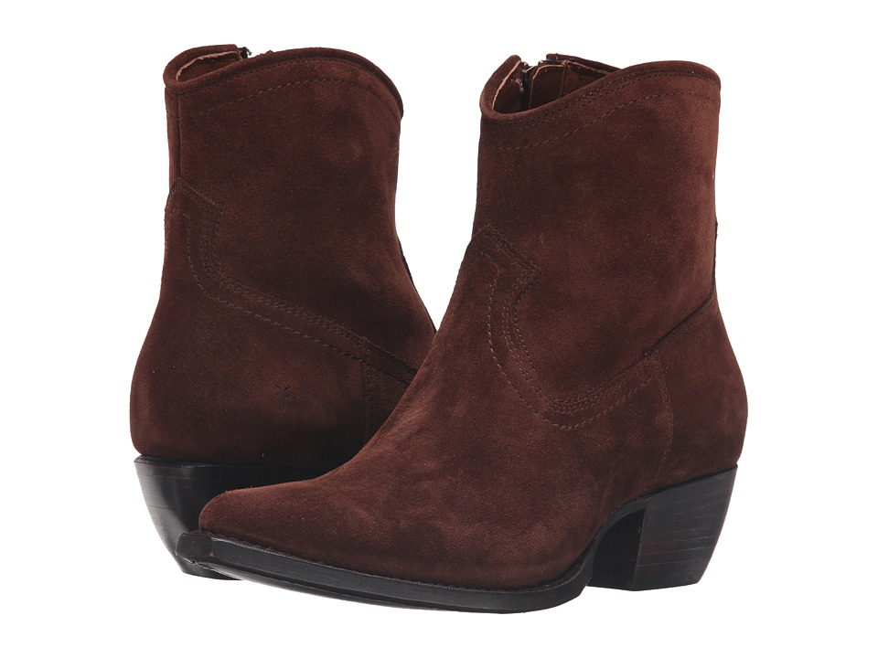 Frye Sacha Short (Brown Oiled Suede) Cowboy Boots