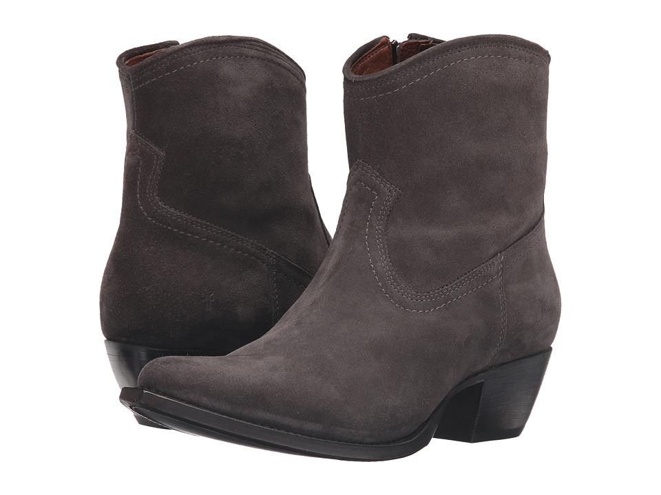Frye - Sacha Short (Smoke Oiled Suede) Cowboy Boots