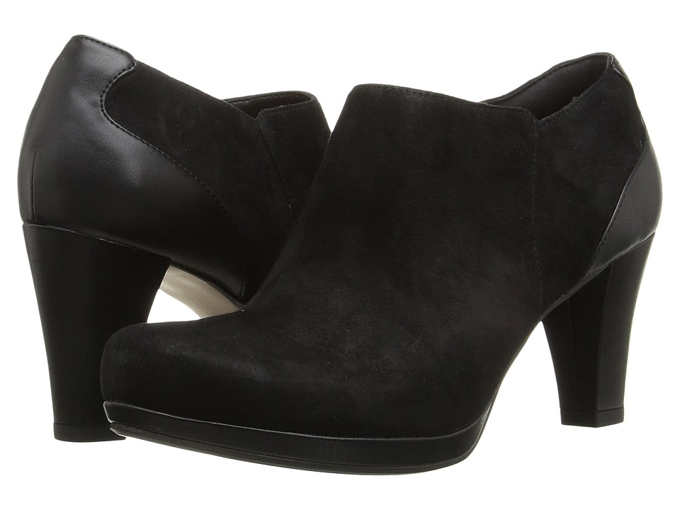 Clarks - Chorus True (Black Suede) Women's Shoes