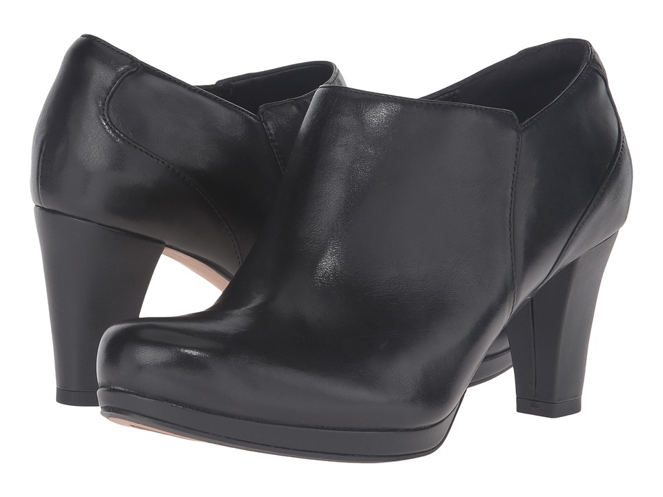 Clarks - Chorus True (Black Leather) Women's Shoes
