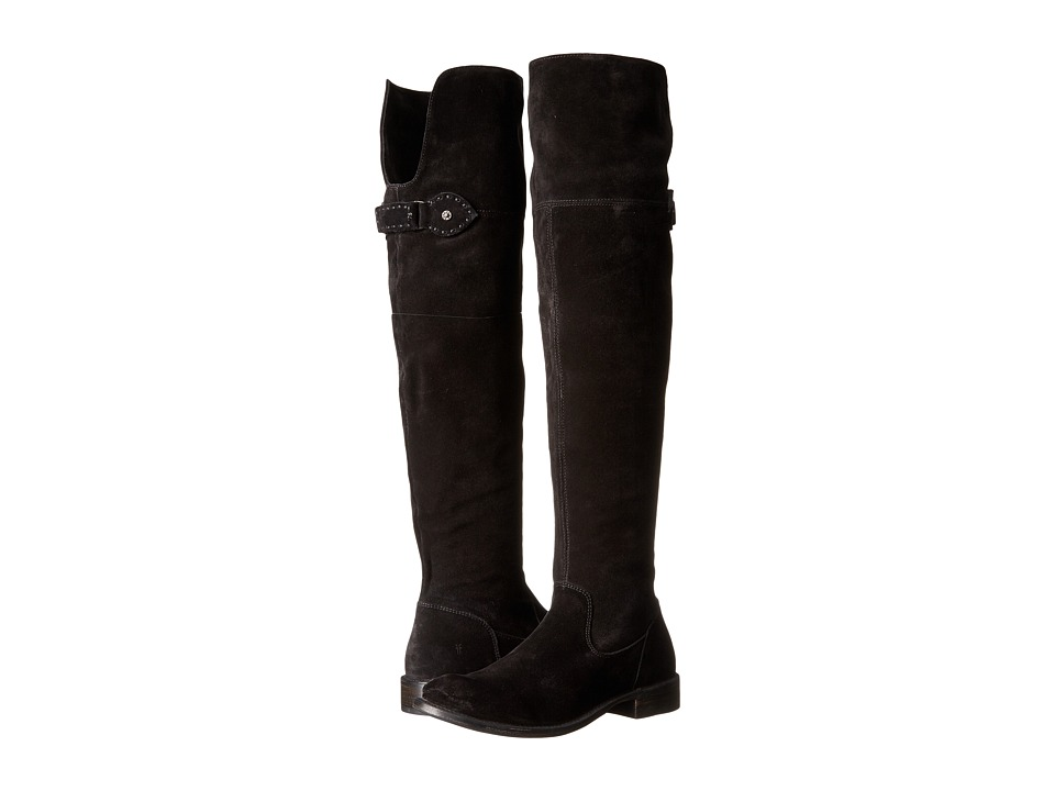 Frye - Shirley Over-The-Knee (Black Oiled Suede) Women's Boots