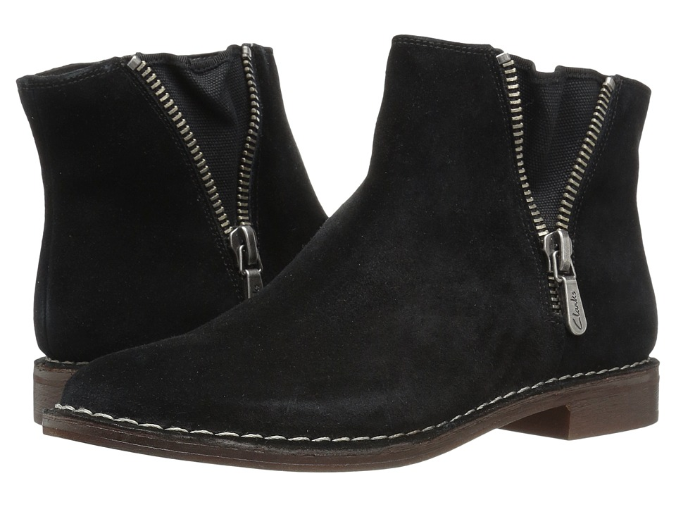 Clarks - Cabaret Ruby (Black Suede) Women's Pull-on Boots