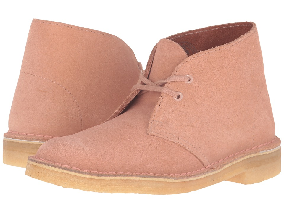 Clarks - Desert Boot (Dusty Pink Suede) Women's Lace-up Boots