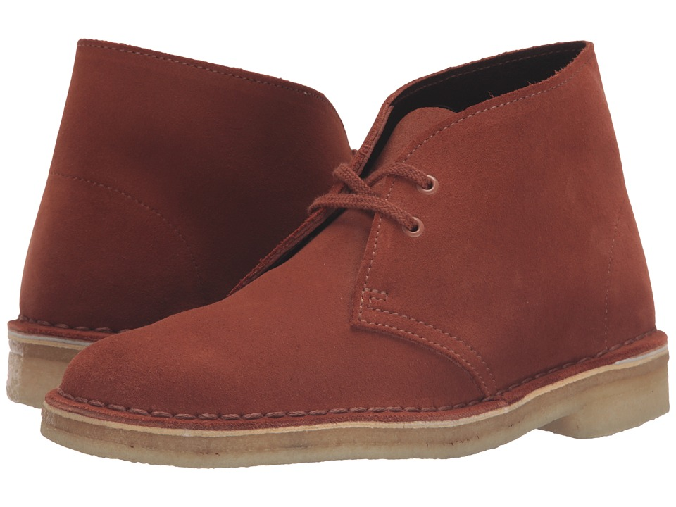 Clarks - Desert Boot (Dark Tan Suede) Women's Lace-up Boots