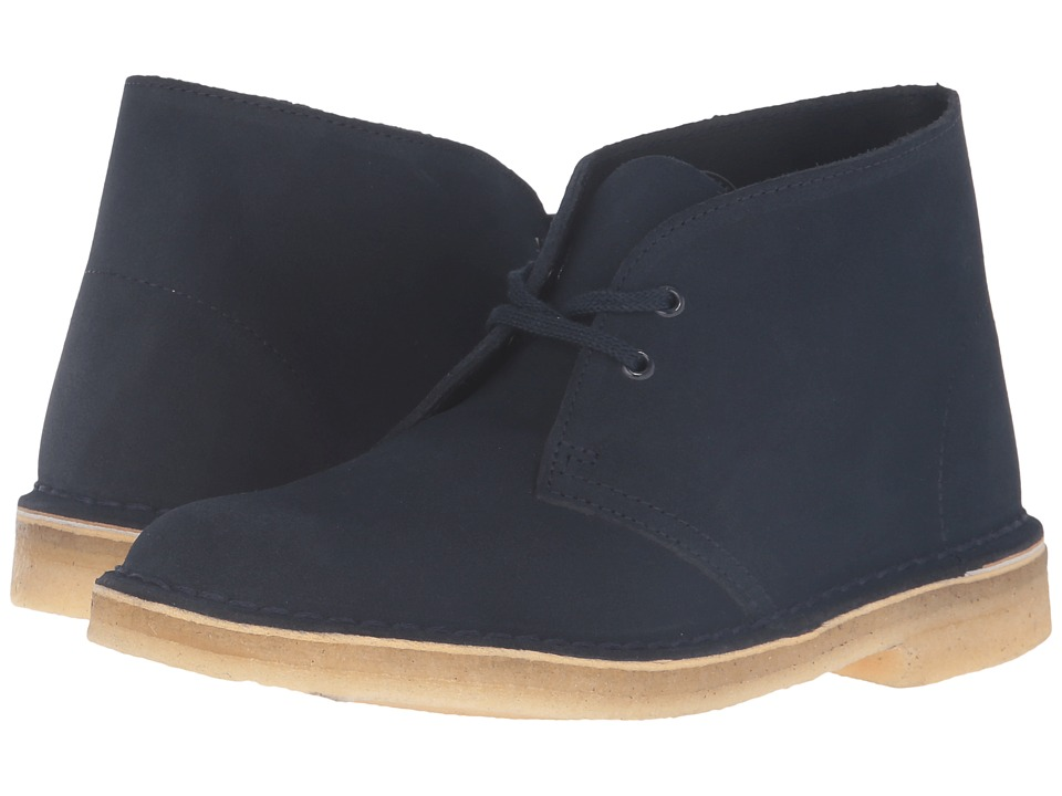 Clarks Desert Boot (Dark Navy Suede) Women