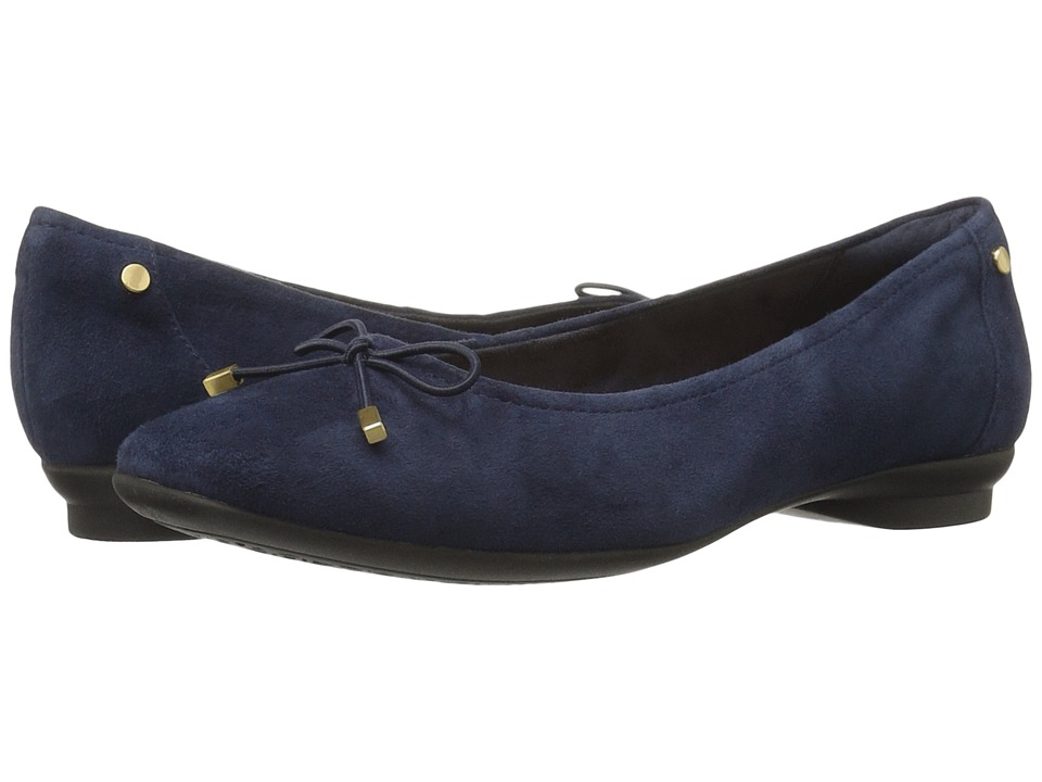 Clarks - Candra Light (Navy Suede) Women's Shoes