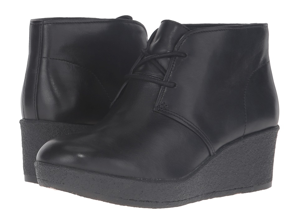 Clarks Athie Terra (Black Leather) Women