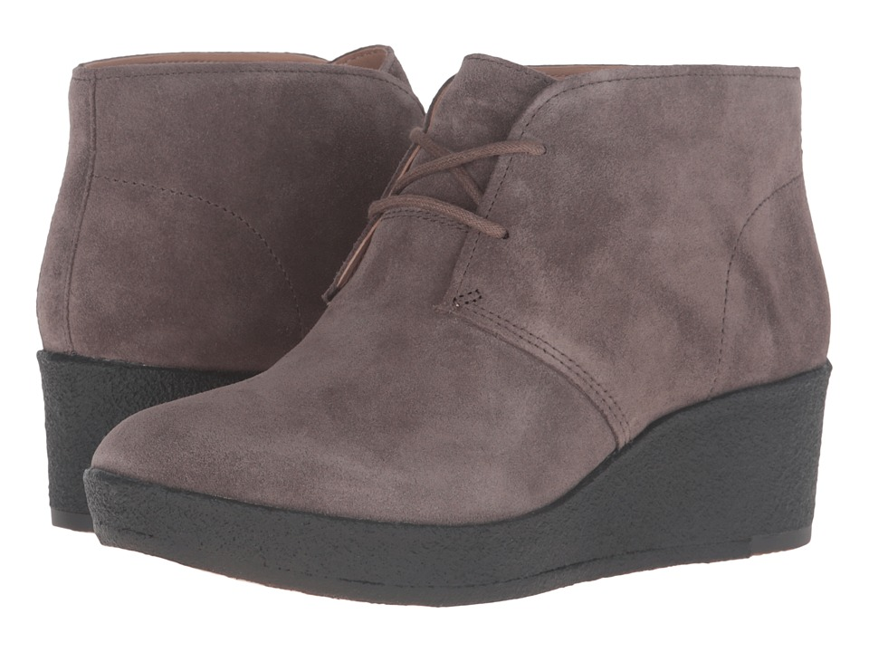 Clarks - Athie Terra (Dark Taupe Suede) Women's Lace-up Boots