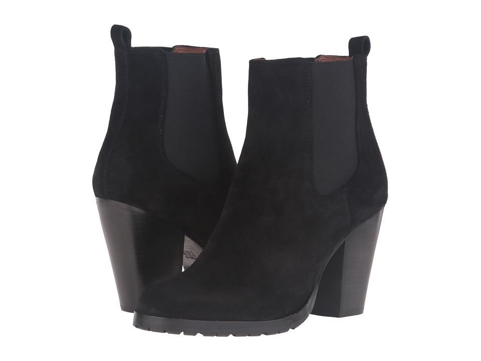 Frye - Tate Chelsea (Black Oiled Suede) Women's Boots