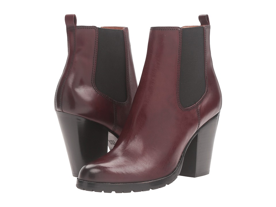 Frye Tate Chelsea (Bordeaux Smooth Veg Calf) Women