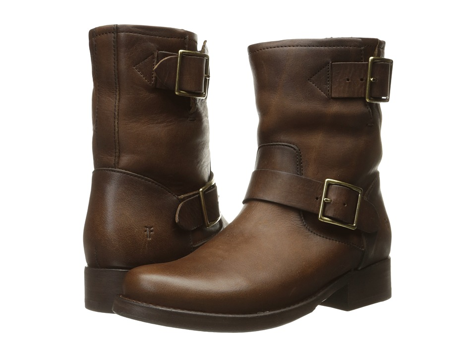 Frye - Vicky Engineer (Dark Brown Washed Oiled Vintage) Women's Boots