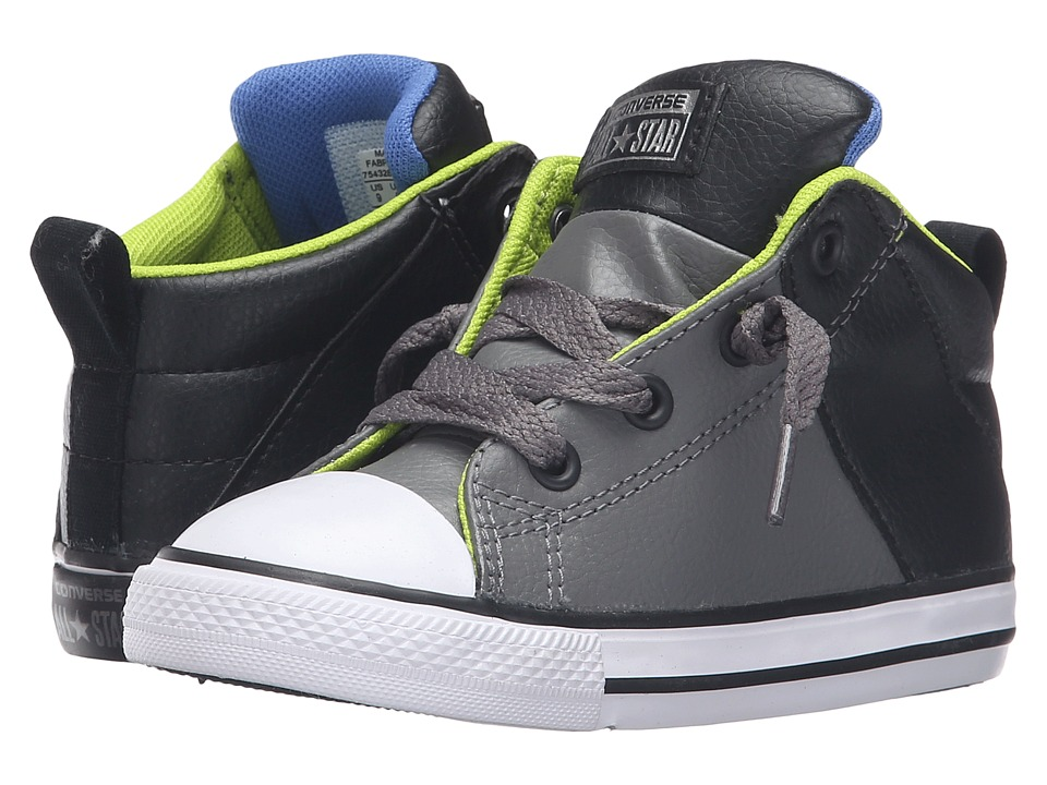 Converse Kids - Chuck Taylor All Star Axel Mid (Infant/Toddler) (Charcoal Grey/Black/White) Boy's Shoes