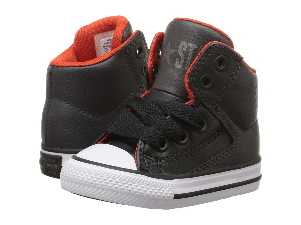 Converse Kids - Chuck Taylor All Star High Street Leather (Infant/Toddler) (Storm Wind/Charcoal/White) Kids Shoes