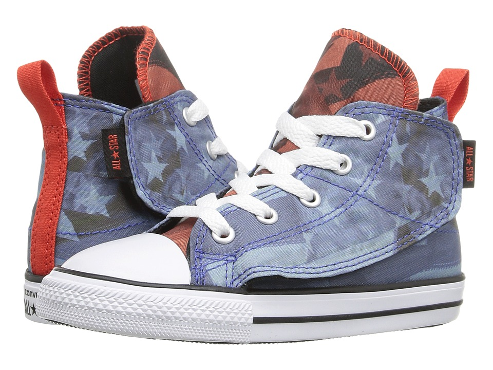 Converse Kids - Chuck Taylor All Star Simple Step Hi (Infant/Toddler) (Oxygen Blue/Signal Red/White) Boys Shoes