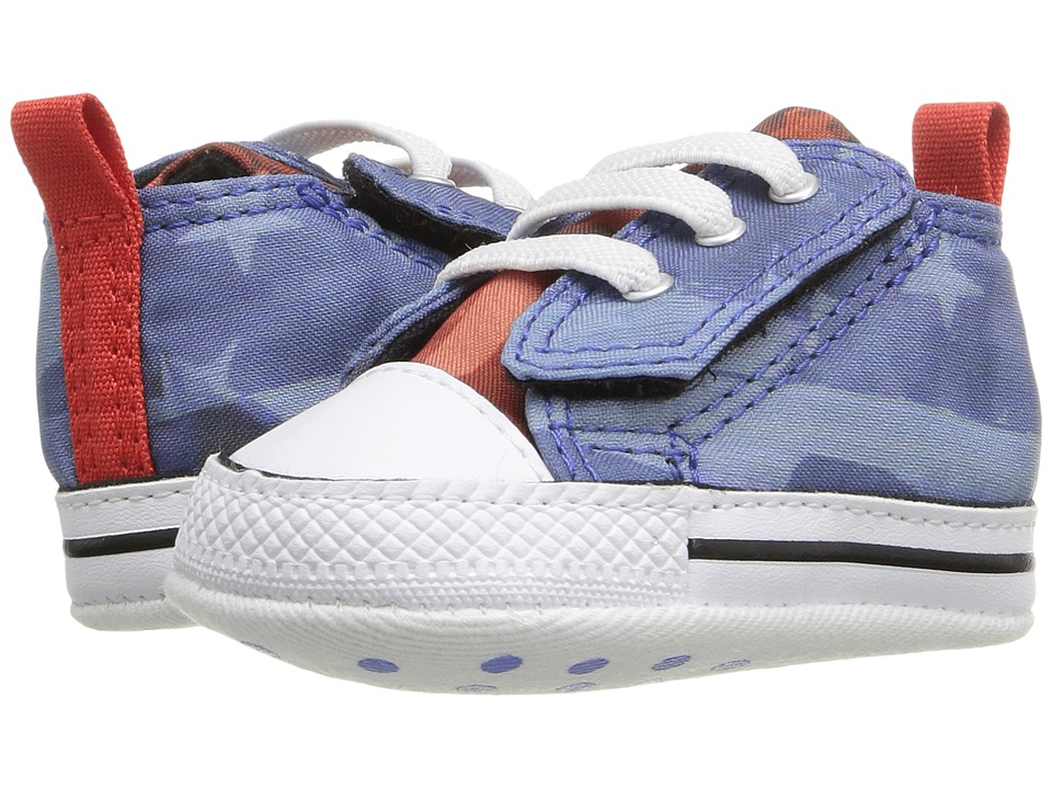 Converse Kids - Chuck Taylor All Star First Star Easy Slip (Infant/Toddler) (Oxygen Blue/Signal Red/White) Boy's Shoes