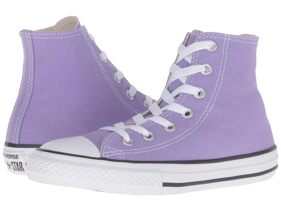 Converse Kids - Chuck Taylor All Star Seasonal Hi (Little Kid) (Frozen Lilac) Kids Shoes
