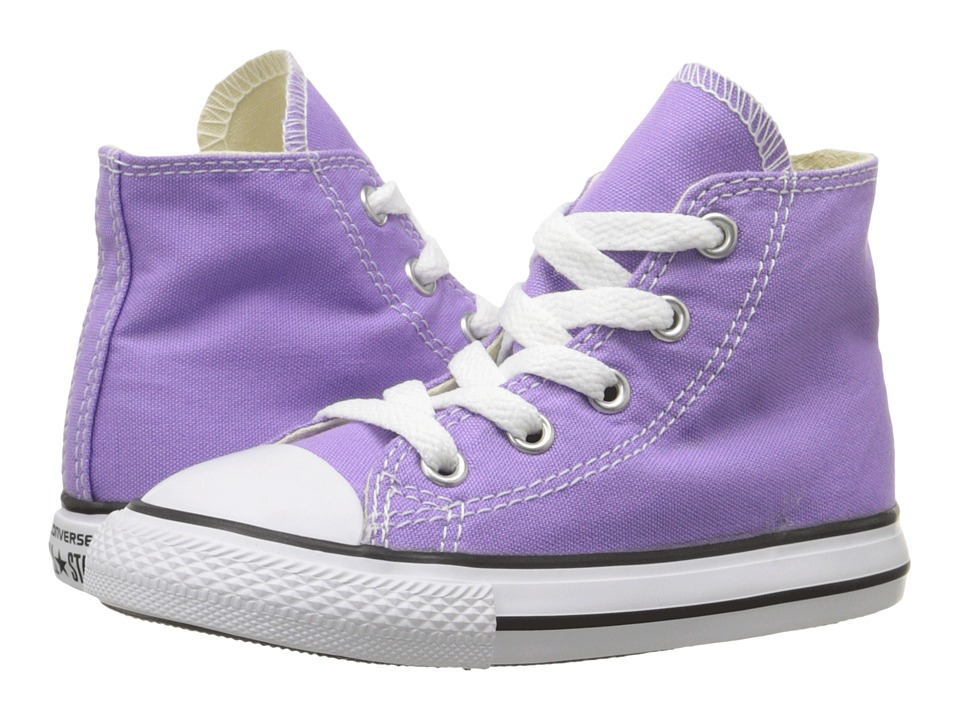 Converse Kids - Chuck Taylor All Star Seasonal Hi (Infant/Toddler) (Frozen Lilac) Girl's Shoes