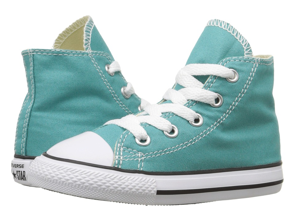 Converse Kids - Chuck Taylor All Star Seasonal Hi (Infant/Toddler) (Aegean Aqua) Girl's Shoes