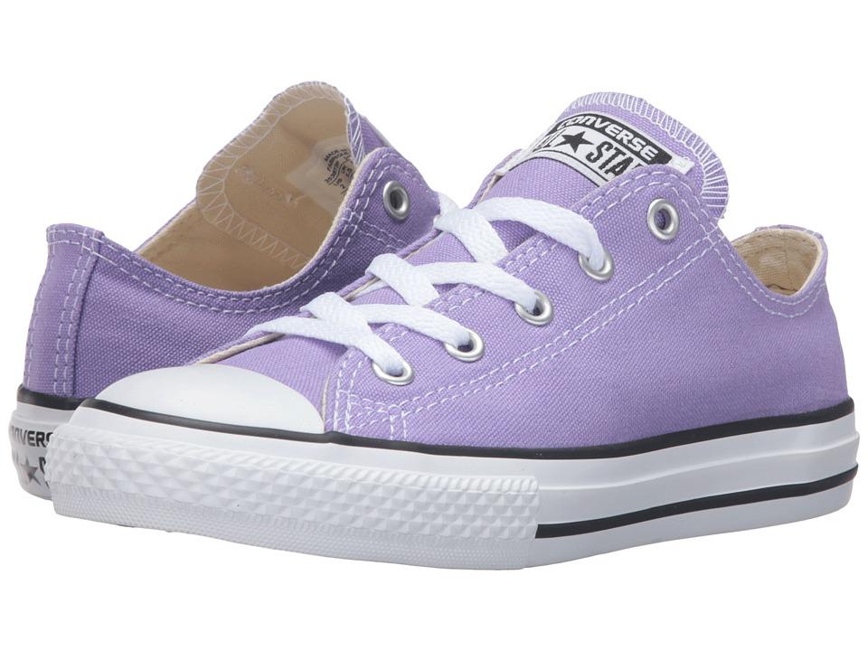 Converse Kids - Chuck Taylor All Star Seasonal Ox (Little Kid) (Frozen Lilac) Kids Shoes