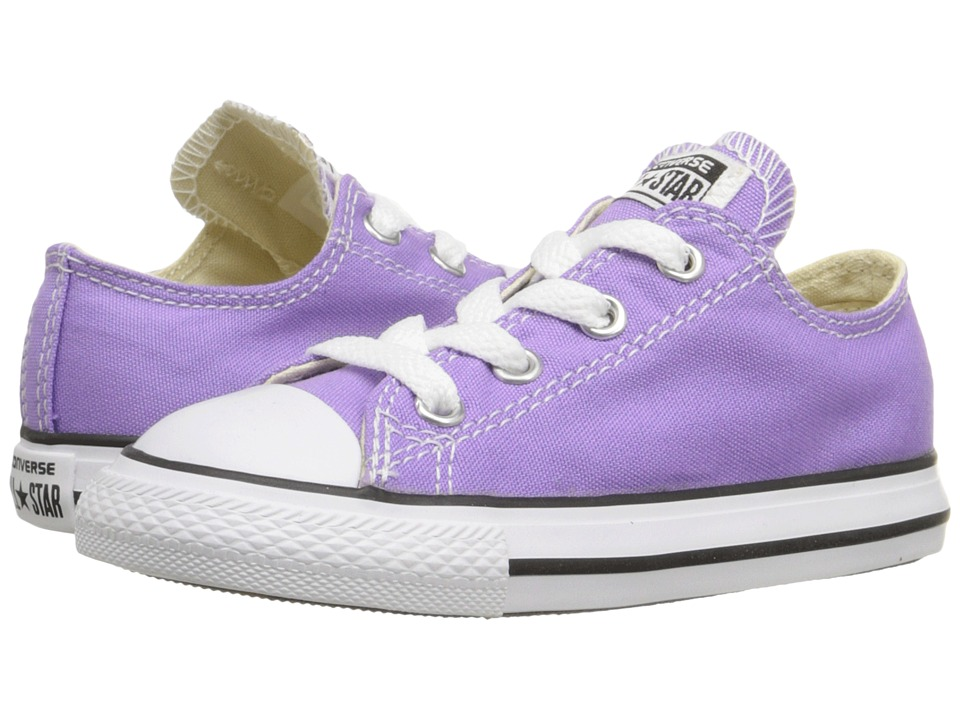 Converse Kids Chuck Taylor All Star Seasonal Ox (Infant/Toddler) (Frozen Lilac) Girl