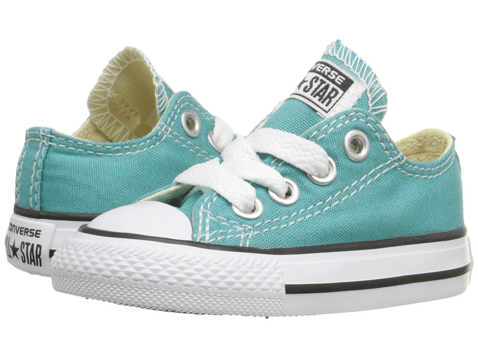 Converse Kids - Chuck Taylor All Star Seasonal Ox (Infant/Toddler) (Aegean Aqua) Girl's Shoes