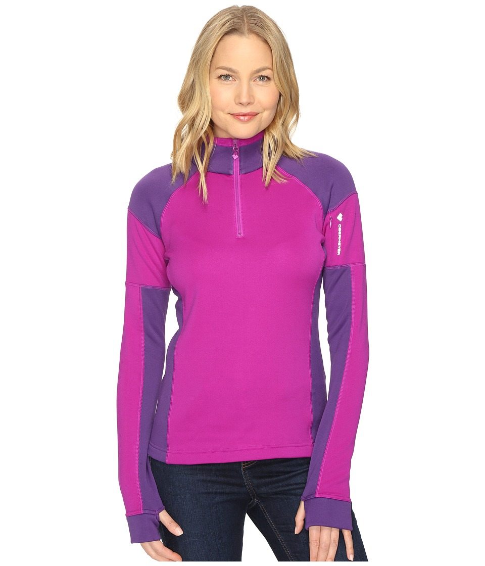 Obermeyer - Nova Elite 150wt Zip Top (Violet Vibe) Women's Clothing