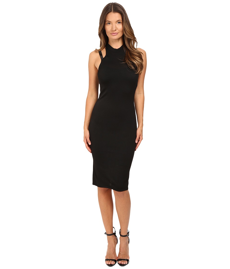 Versace Collection - Knitwear Dress with Embellished Straps (Black) Women's Dress