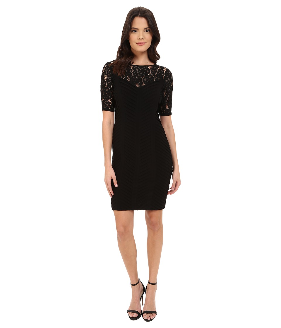 Adrianna Papell Diagonal Stitched Bands Bodycon Dress