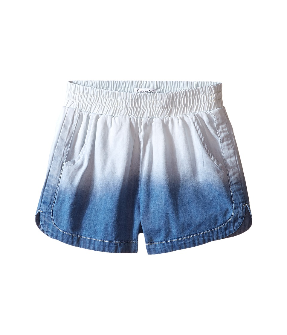Splendid Littles - Bleach Out Denim Shorts (Big Kids) (Indigo) Girl's Shorts