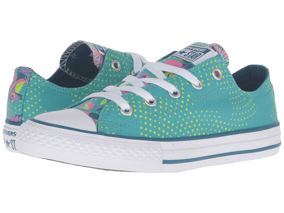 Converse Kids - Chuck Taylor All Star Ox (Little Kid/Big Kid) (Aegean Aqua/White/Blue Lagoon) Girls Shoes