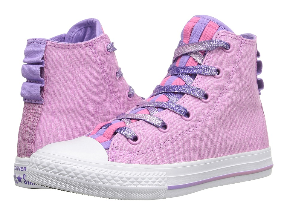 Converse Kids - Chuck Taylor All Star Loopholes Hi (Little Kid/Big Kid) (Icy Pink/Mod Pink/White) Girls Shoes