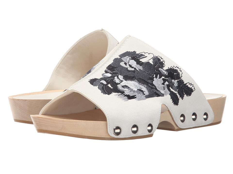 Alexander McQueen Sandal Pelle S.Gomma (Silk White 161/Black) Women
