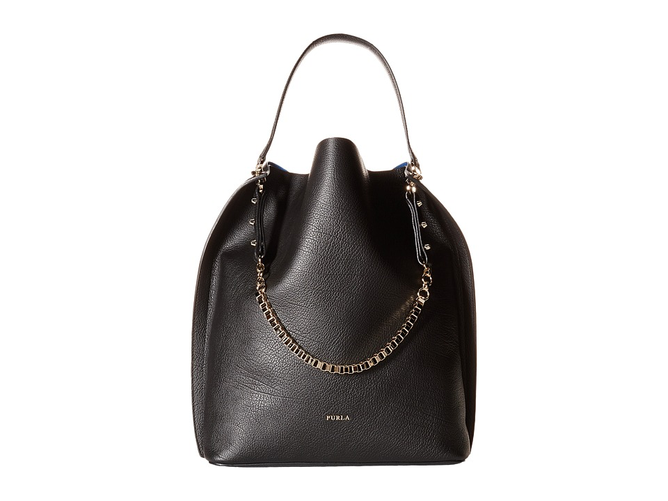Furla - Minerva Medium Hobo (Onyx 1) Hobo Handbags