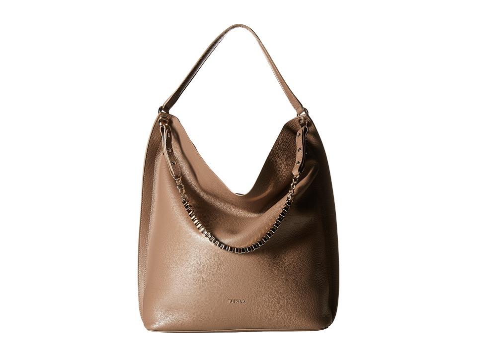 Furla - Minerva Medium Hobo (Color Daino 1) Hobo Handbags