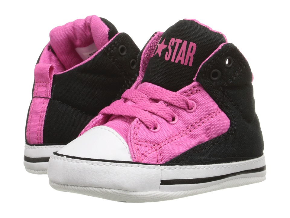 Converse Kids - Chuck Taylor All Star First Star High Street (Infant/Toddler) (Mod Pink/Black/White) Girl's Shoes