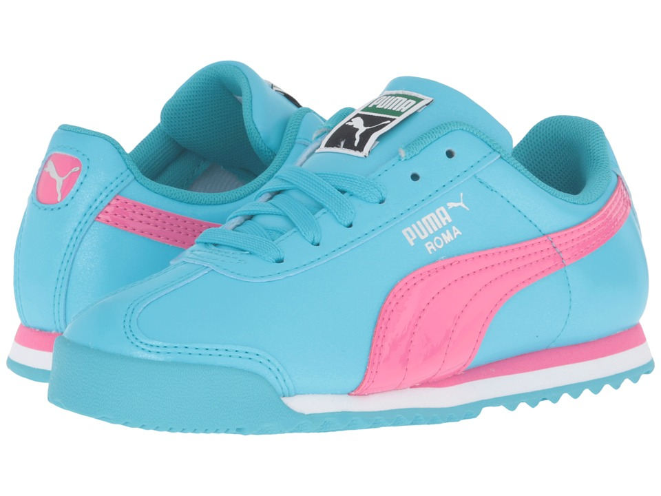 Puma Kids - Roma Glitter PS (Little Kid/Big Kid) (Blue Atoll/Fandango Pink) Girls Shoes