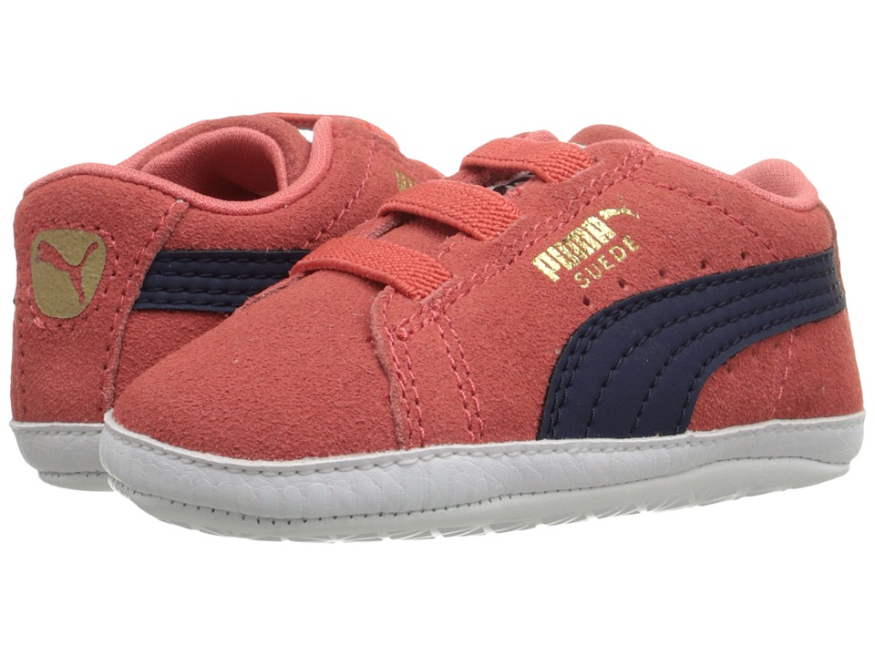 Puma Kids - Suede Crib (Infant/Toddler) (Porcelain Rose/Peacoat) Girl's Shoes