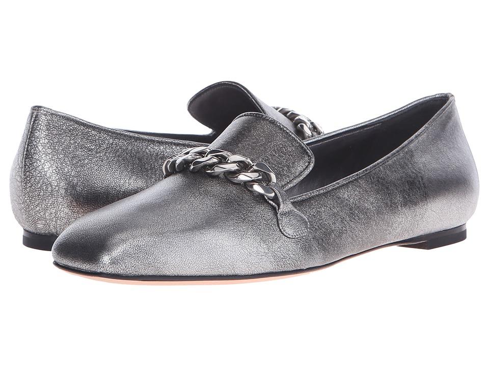Alexander McQueen - Scarpa Pelle S.Cuoio (Silver) Women's Flat Shoes