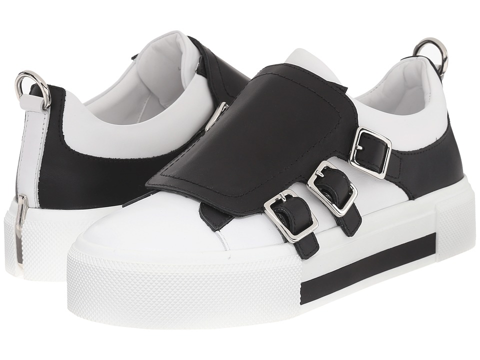 Alexander McQueen - Sneake Pelle S.Gomma (White/Black) Women's Slip on Shoes