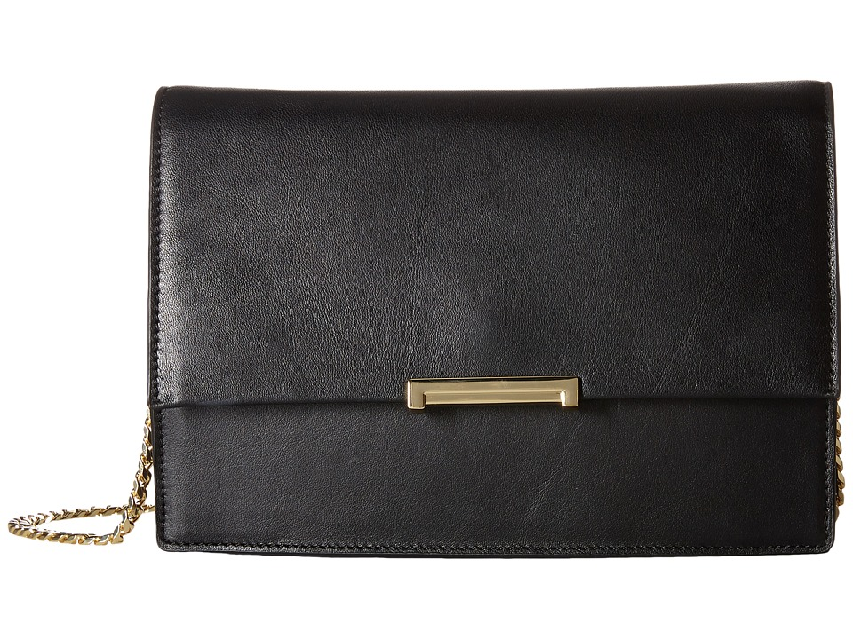 Ivanka Trump - Mara Cocktail Bag (Black Smooth Nappa Leather) Bags