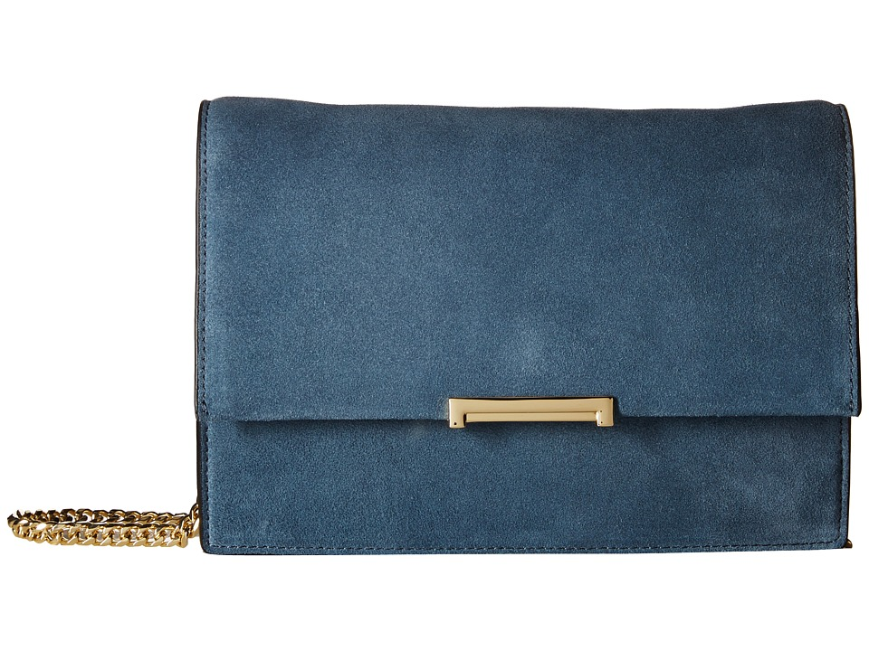 Ivanka Trump - Mara Cocktail Bag (Blue Mirage Summer Suede Leather) Bags