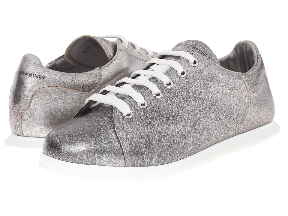 Alexander McQueen - Sneaker Pelle S.Gomma (Silver) Women's Lace up casual Shoes