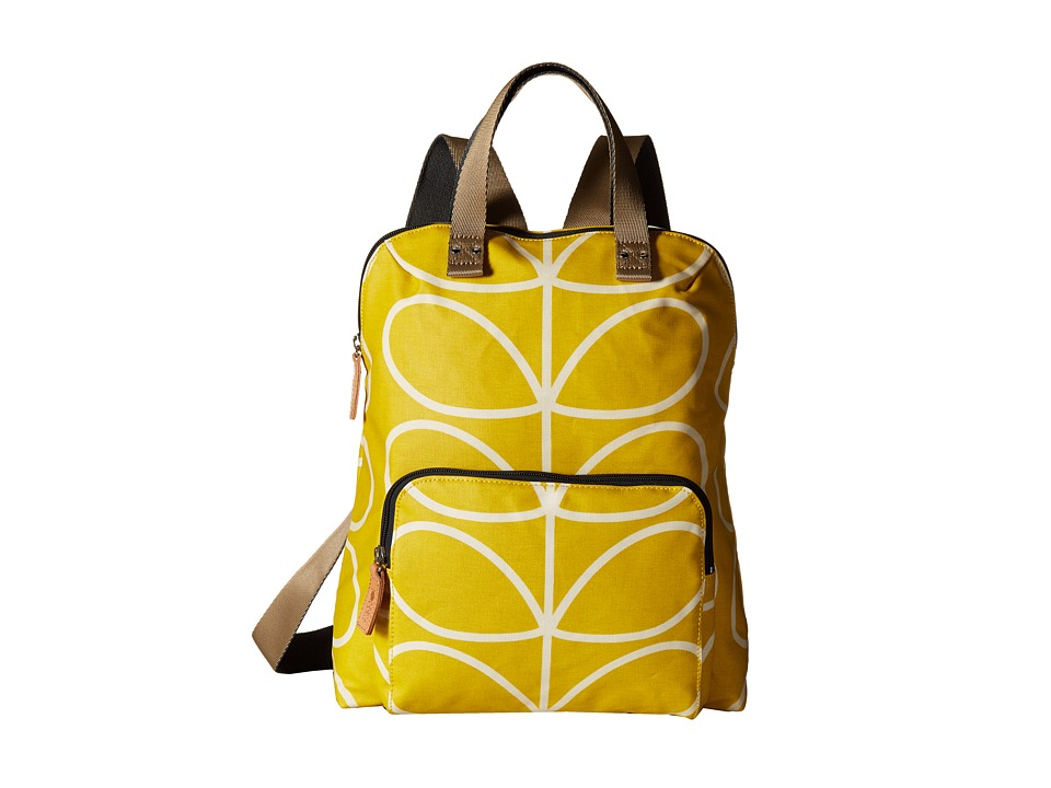Orla Kiely - Giant Linear Stem Backpack Tote (Dandelion) Backpack Bags