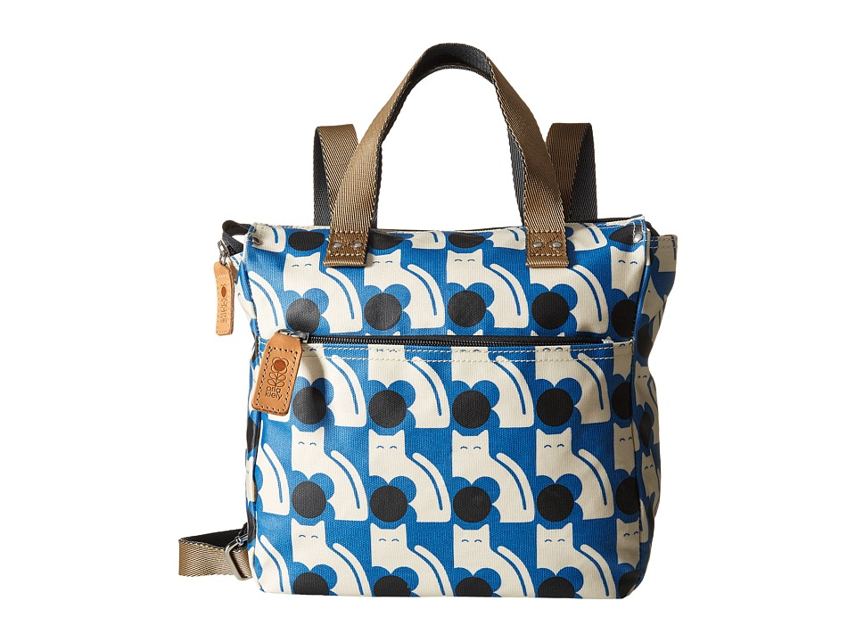 Orla Kiely - Poppy Cat Print Small Backpack (Powder Blue) Backpack Bags